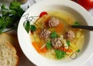 Суп с грибными фрикадельками