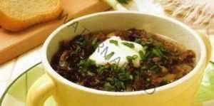 Грибной суп из замороженных опят