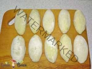 Зразы картофельные с ливером и грибами. Шаг 10.