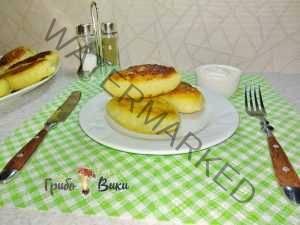 Зразы картофельные с ливером и грибами. Шаг 12.