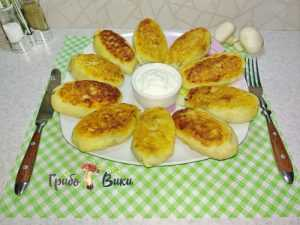 Зразы картофельные с ливером и грибами-1 фото
