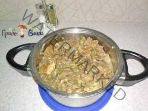 Зразы картофельные с ливером и грибами. Шаг 6.